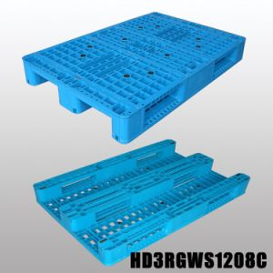 1208 Reusable 3-Runner 4 Way Entry Plastic Pallets for Sale pictures & photos