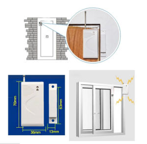 Hot Selling Battery Operated 433MHz Wireless Door Contact Sensor pictures & photos