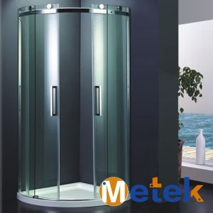 Cheap Tempered Glass Single Sliding Door Shower Cabin Simple Shower Enclosure in China pictures & photos