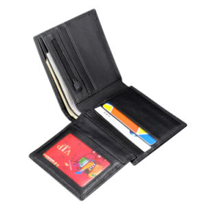 Hot Sell Style New Luxury Protective Carbon Fiber Genuine Top Cow Leather Short Wallet pictures & photos