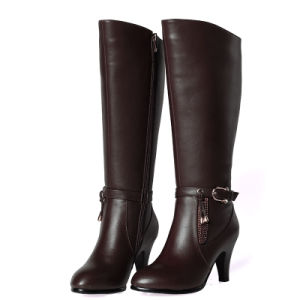 High Heel Leather Women Boots
