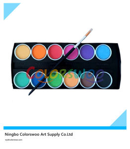 12 Color 3.0cm Classic Water Color Cake with Brush for Painting and Drawing pictures & photos