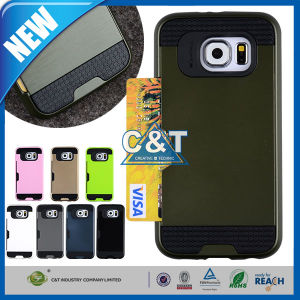High Impact Credit Card Holder Case for Samsung Galaxy S6 pictures & photos