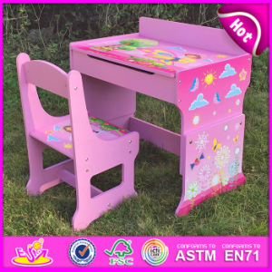 2015 New Wooden Studying Table and Chair, Wooden Writing Table and Chair Sets, Kids Table and Chair for Studying W08g162 pictures & photos