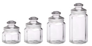 Airtight Storage Glass Jar Bottle Series Polygonal