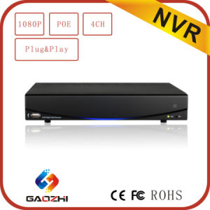 Hot 1080P 2MP 4CH Onvif Poe P&P H. 264 Network DVR pictures & photos