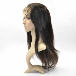 Brazilian Virgin Hair Front Lace Wigs (16Inch-Straight) pictures & photos