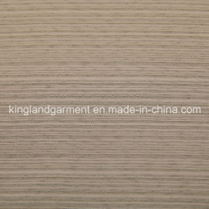 Polyester Home Textile Wide Width Inherently Fire Retardant Brown Striped Fireproof Curtain pictures & photos