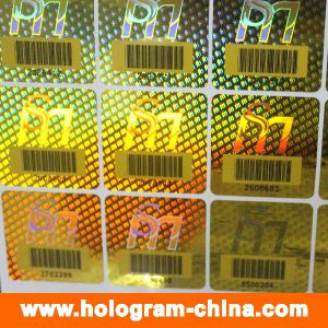 Security 3D Laser Barcode Hologram Stickers pictures & photos