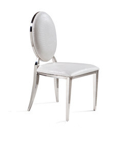 Modern White Dining Room Round Back Chairs with Leather Cushion pictures & photos