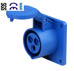 Industrial Socket (QJ-N313) of IP44 16A 2p+E Plastic PA66