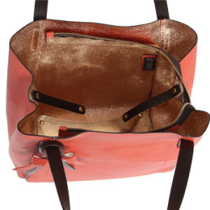 Womens Front PU Decoration Handbags Fashion Leather Purse Bags pictures & photos