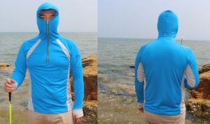 Sun-Proof and Breathable Microfiber Fishing Pullover pictures & photos