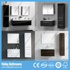 The Latest High-Gloss Paint MDF Board Two Curved Drawers Large Mirror Cabinet Sanitary Ware (PF127c) pictures & photos