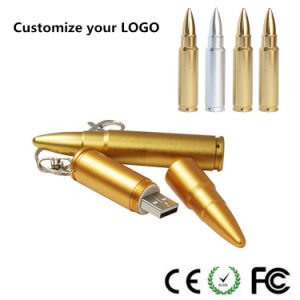 Souvenir Gift Pendrive for Metal Bullet USB Flash Disk pictures & photos