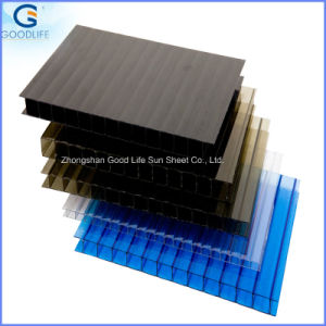 Two Layers Hollow PC Corrugated Plastic Roofing Sheets pictures & photos