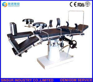 ISO/Ce Approved Hospital Surgical Manual Hydraulic Fluoroscopic Operating Bed pictures & photos