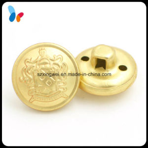 Custom Made Brass Golden Military Button for Sewing pictures & photos