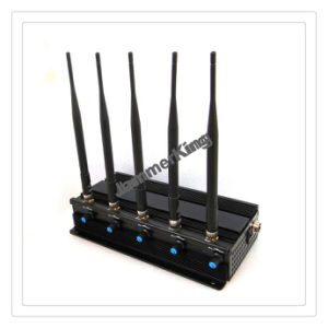 13W GSM-3G-WiFi2.4G-GPS Signal Jammer up to 50meteres; 5antenna Desktop Cellphone Jammer/Blocker, Cell Phone WiFi GSM CDMA Bomb Signal Blocker / Jammer pictures & photos