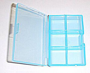 Newest Product Plastic Pill Box 6 Compartments pictures & photos