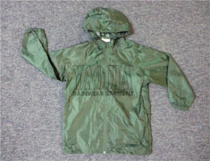 Polyester Windbreaker Outdoor Sports Jacket with AC Coating pictures & photos
