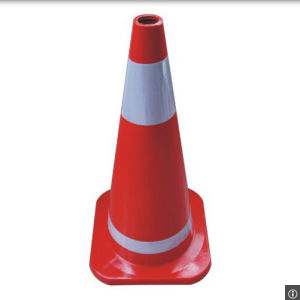 Full Fluorescent Red Road Safety Cones with Reflective Tapes pictures & photos
