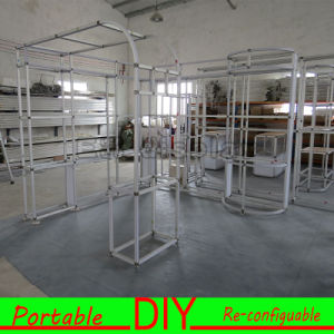 Custom Made Aluminum PVC Material Modern Portable Exhibition Booth Stand pictures & photos