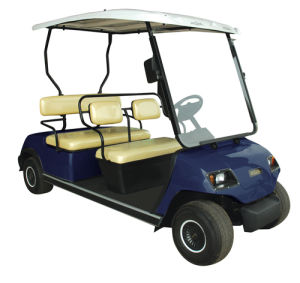 Red Electric 4 Seater Golf Car pictures & photos