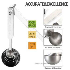 6 PCS Stainless Steel Measuring Scoop pictures & photos