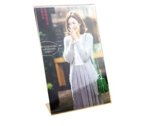 Free Shipping Table Clear Plexiglass Funia Frame Photo with Screw Acrylic Photo Frame for Sale pictures & photos