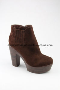 Platform Shoes Block Heel Fashion Women High Heel Boots pictures & photos