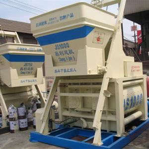 Environmental Protection Js1000 (40-50m3/h) Concrete Mixer Machine with Lift pictures & photos