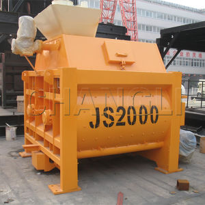 Discount for Js2000 Electric Twin Shaft Portable Concrete Mixer pictures & photos