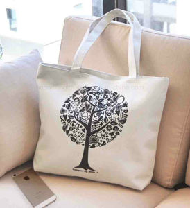 fashion Customized Logo 6oz Canvas Bag for Shopping (HC00150608013) pictures & photos