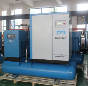 Industrial Oil Lubricated Rotary Screw Air Compressor with Air Dryer pictures & photos