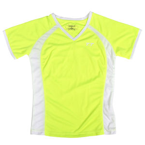 New Custom Lady′s Neon Yellow T Shirt pictures & photos