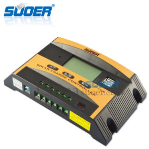 Suoer 12V 24V 10A Solar Charge Controller with Double USB Interfaces (ST-C1210) pictures & photos