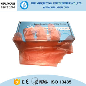 Long Sleeves Disposable Venterinary Plastic Gloves pictures & photos