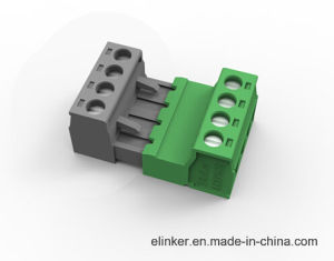 Plug-in Type Terminal Block Connector with Flange 5.08mm Pitch