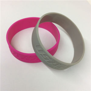 Embossed Logo Single Color Custom Silicone Wristband pictures & photos