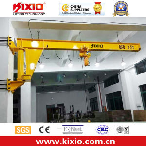 1~10 Ton Telescopic Arms Jib Crane with Wire Rope Hoist pictures & photos