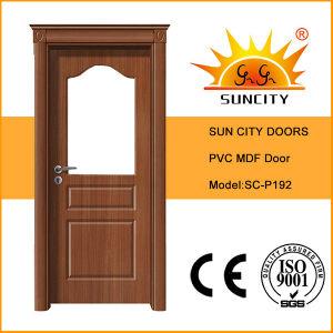 China Wholesale Veneer PVC Toilet Glass Door (SC-P192) pictures & photos