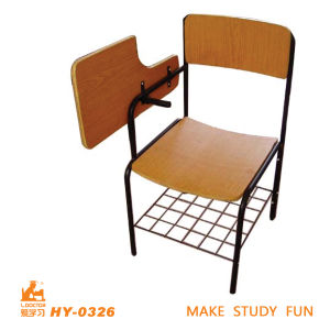 Plywood+Laminated High School Furniture Writing Chair pictures & photos