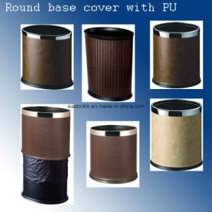 Hotel Power Coat Metal Cover with PU Leatherette Dustbin pictures & photos