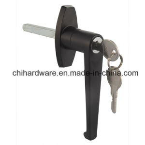 Black L Handle Lock for Garage or Cabinet Door pictures & photos