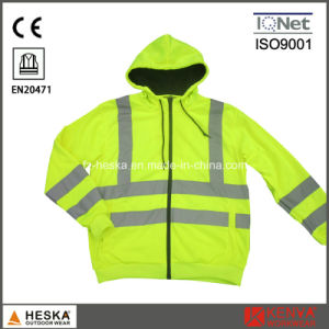 High Visibility Long Sleeve Hooded Safety Sweatshirt pictures & photos