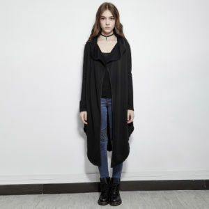 Y-615 Punk Spring Darkness Irregular Inelastic Thin Fleece Classic Long Jacket pictures & photos