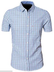 Men′s Short Sleeve Cotton Slim Fit Shirt pictures & photos