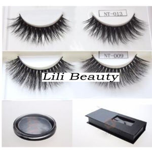 Popular New 3D Faux Mink Eyelash Silk Strip Lashes Wholesale Custom Eyelashes Packaging pictures & photos