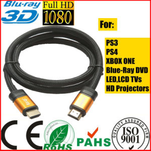 4096p*2160p LCD TV Orange Gold HDMI Cable for xBox PS4 (SY120) pictures & photos